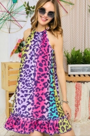 Adora Leopard Ombre Dress - Front cropped