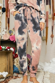 Adora Soft Tie Dye Fleeced French Terry Hoodie And Pants Loungewear Matching Set - Other