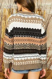 Adora Tribal Aztec Patterned Knit Sweater Pullover Jumper - Other