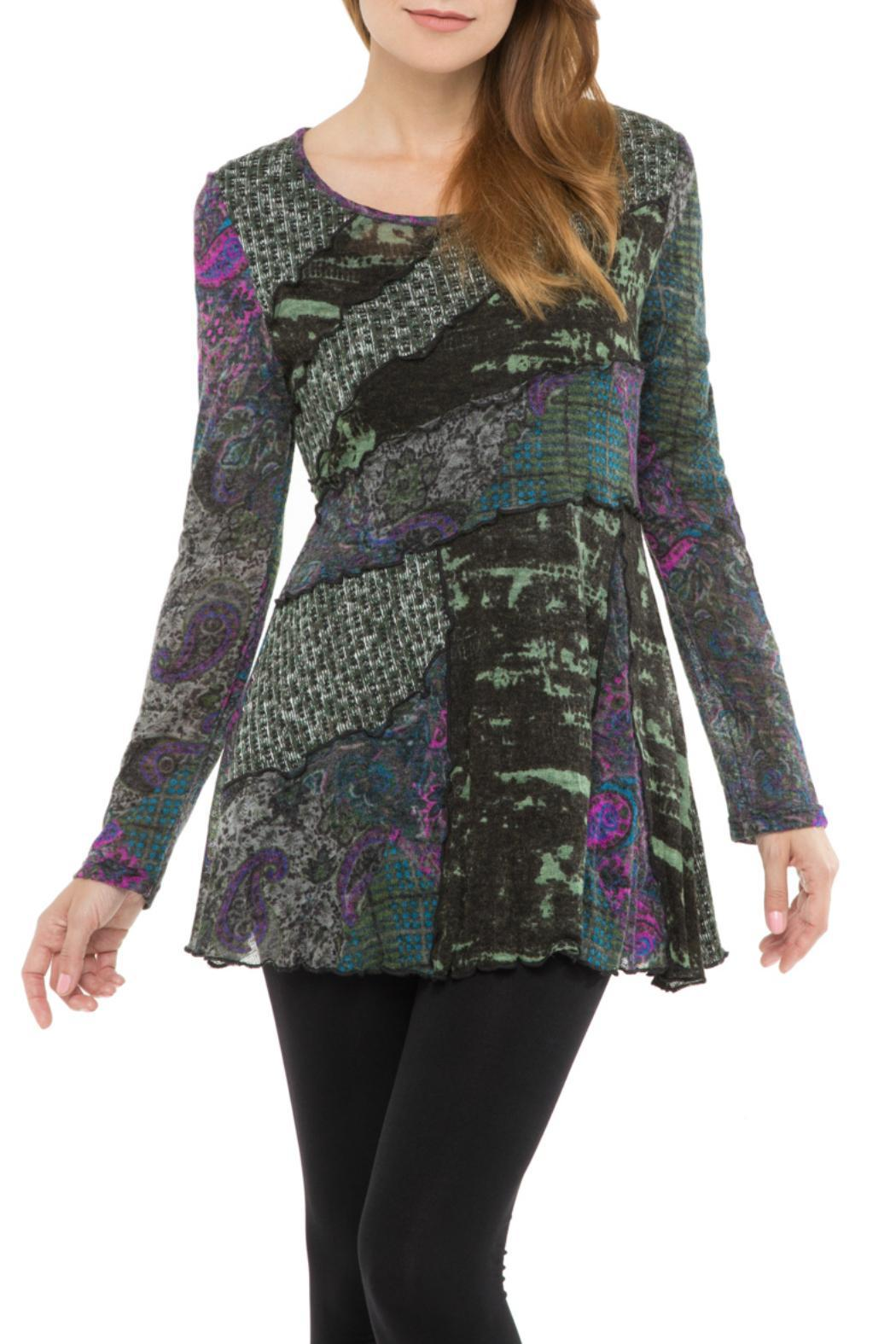 Adore Abstract Flare Tunic - Main Image