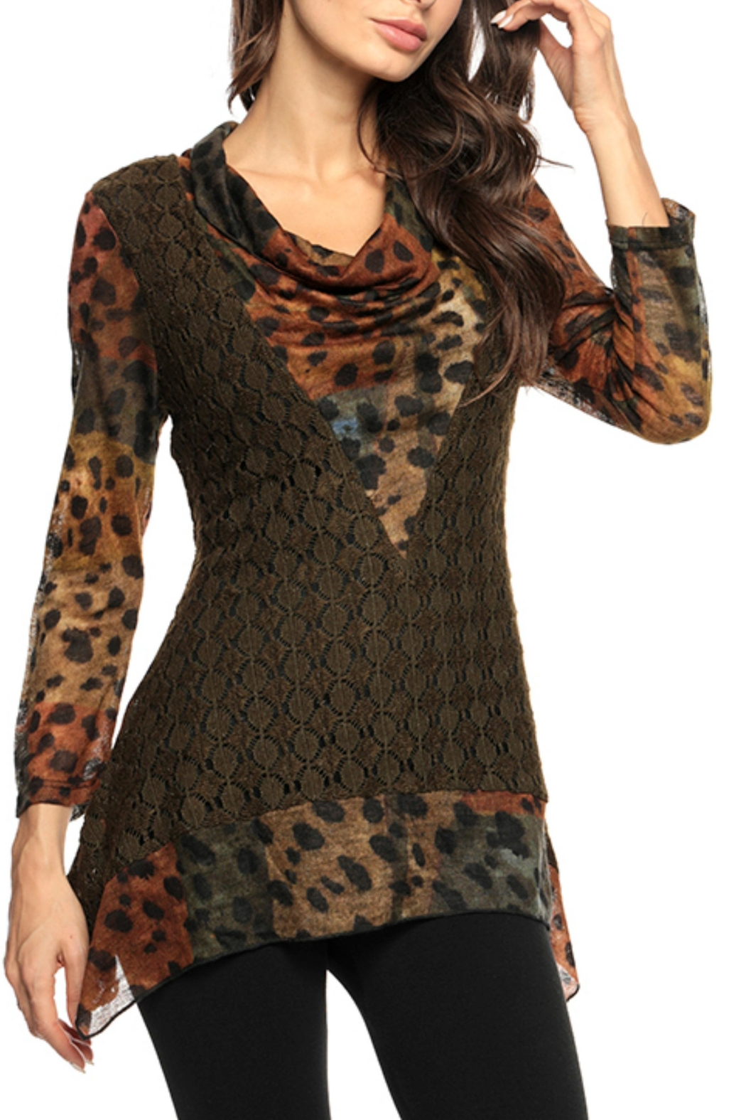 Adore Animal Texture Tunic - Main Image