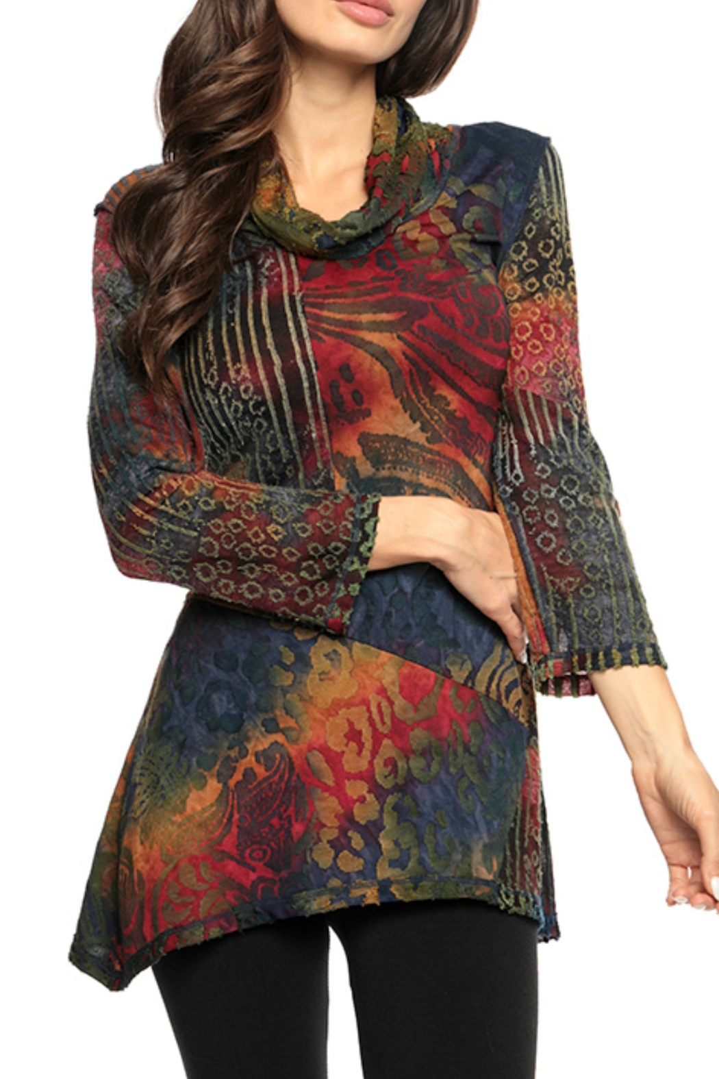 Adore Animale Motif Tunic - Front Cropped Image
