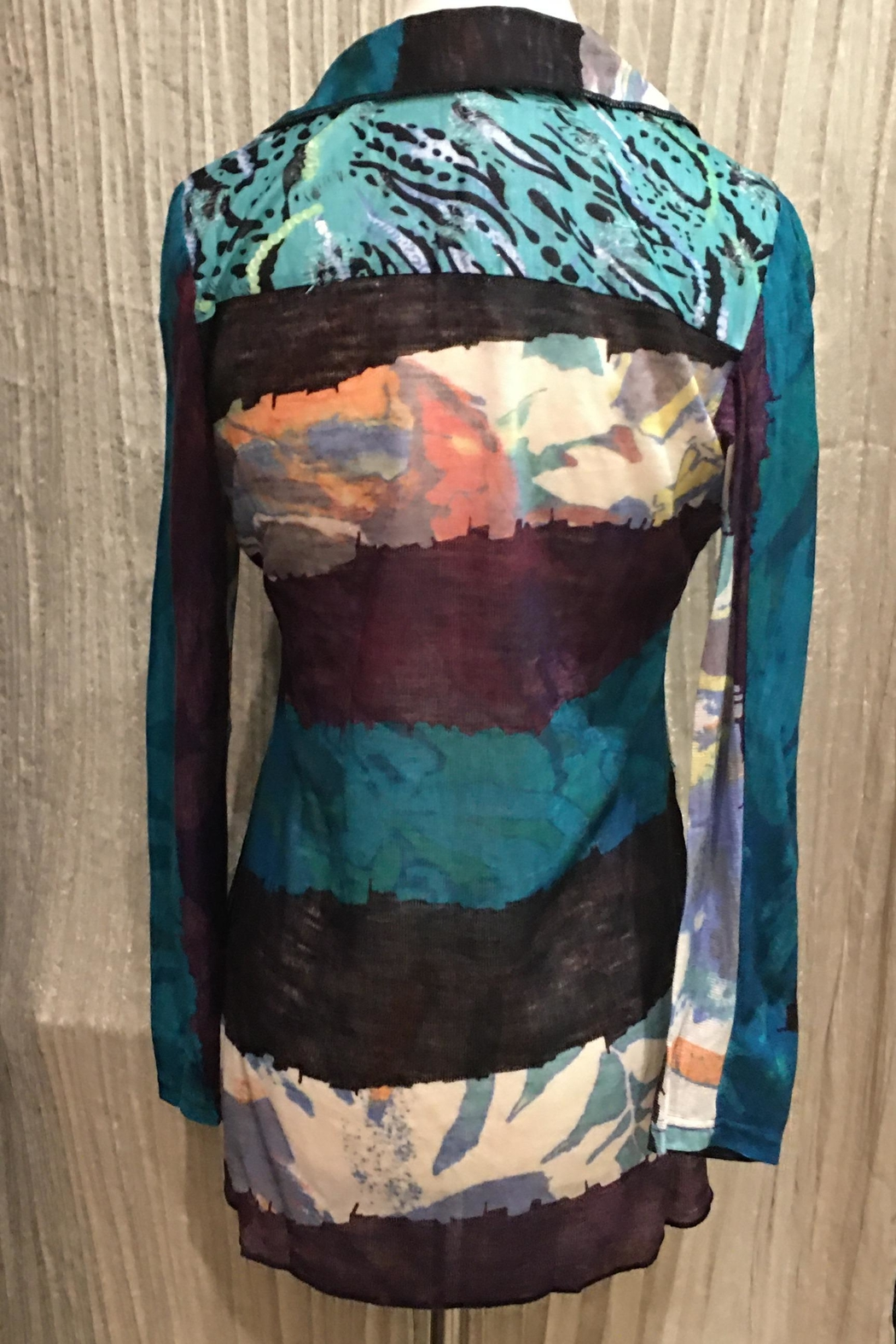 Adore Animale Textured Blouse - Front Full Image