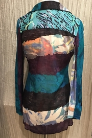 Adore Animale Textured Blouse - Front full body