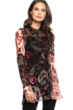 Adore Burnout Velvet Paisley Blouse - Product List Image