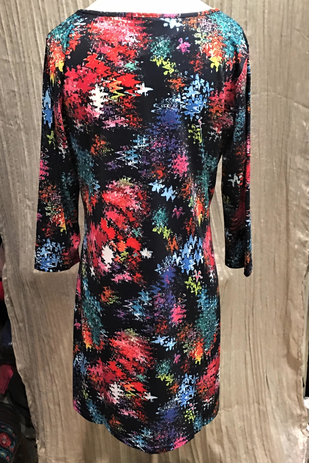 Adore Colorburst Keyhole Dress - Front Full Image