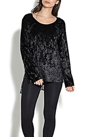 Adore Crushed Velvet Top - Front cropped