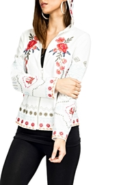 Adore Embroidered Floral Hoodie - Product Mini Image