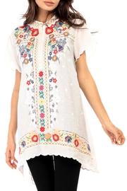 Adore Embroidered Mandarin Blouse - Product Mini Image