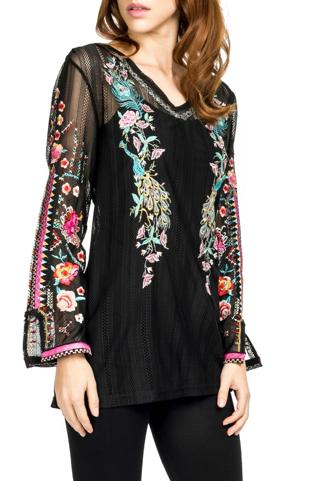 Adore Embroidered Motif Blouse - Main Image