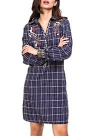 Adore Embroidered Plaid Tunic/dress - Product Mini Image