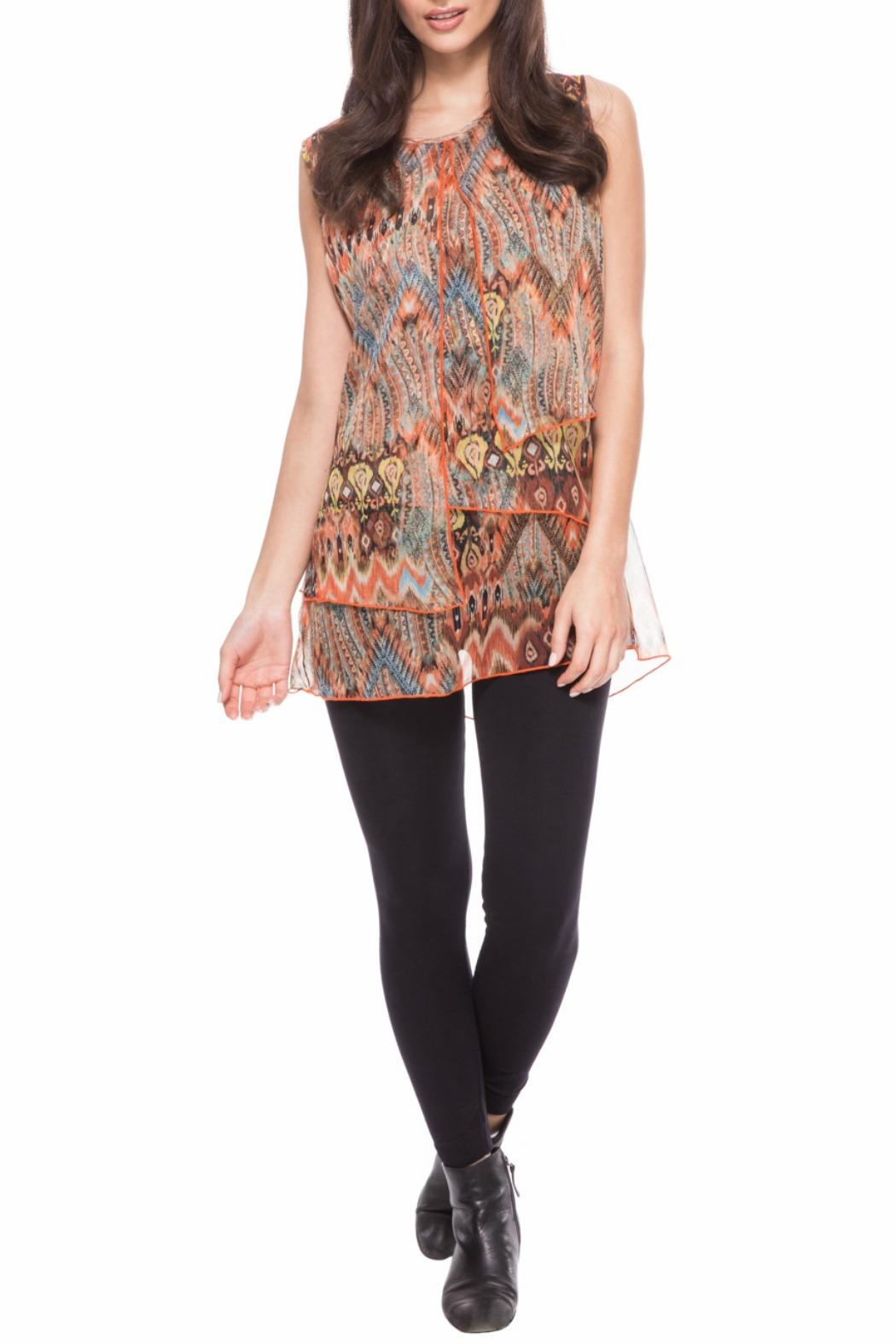 Adore Feather Sleeveless Top - Main Image
