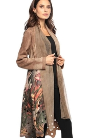 Adore Floral Cut-Out Coat - Product Mini Image
