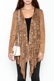 Adore Fringe Faux Suede Jacket - Front full body