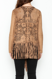 Adore Fringe Faux Suede Jacket - Back cropped
