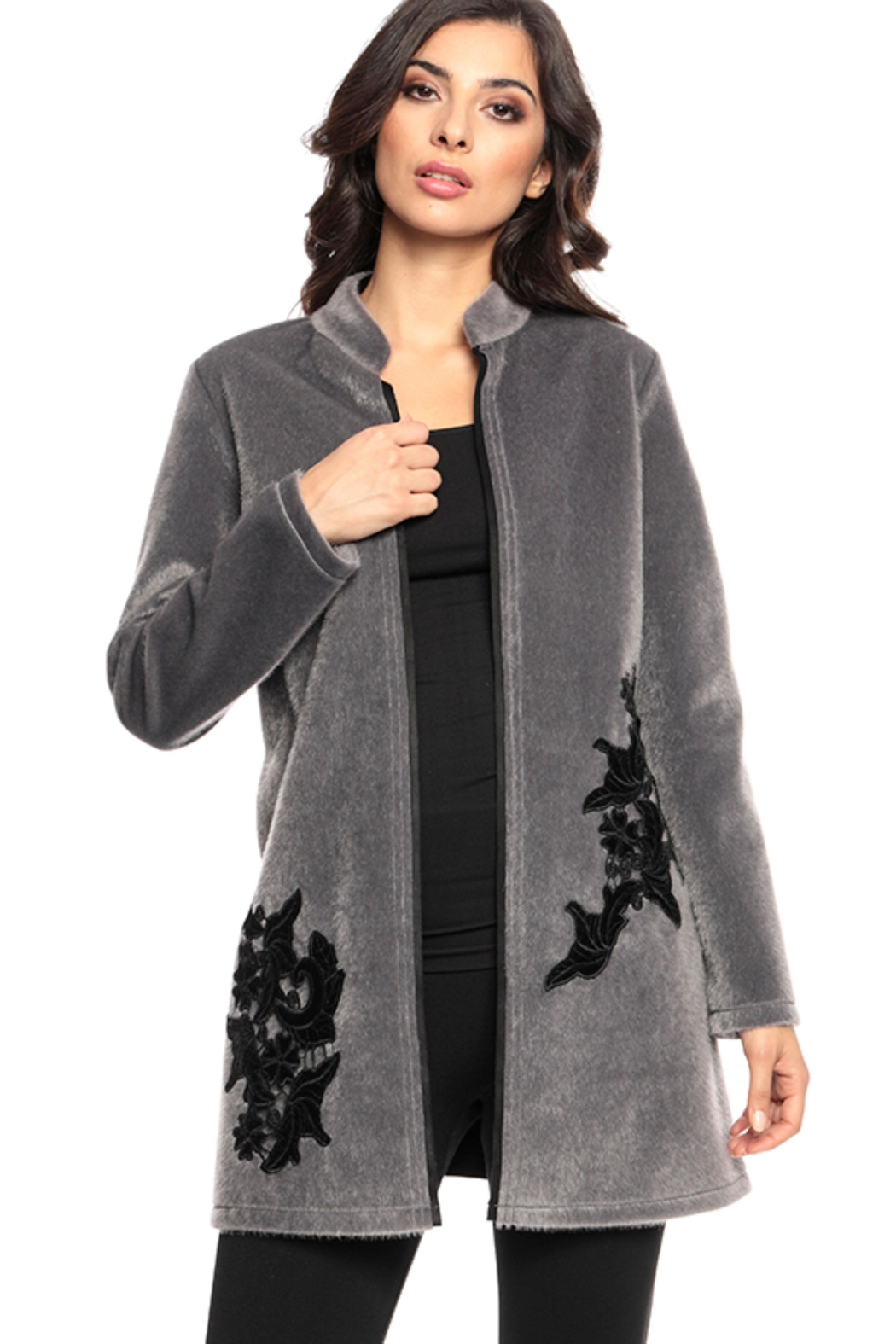 Adore Fur Embroidered Jacket - Main Image