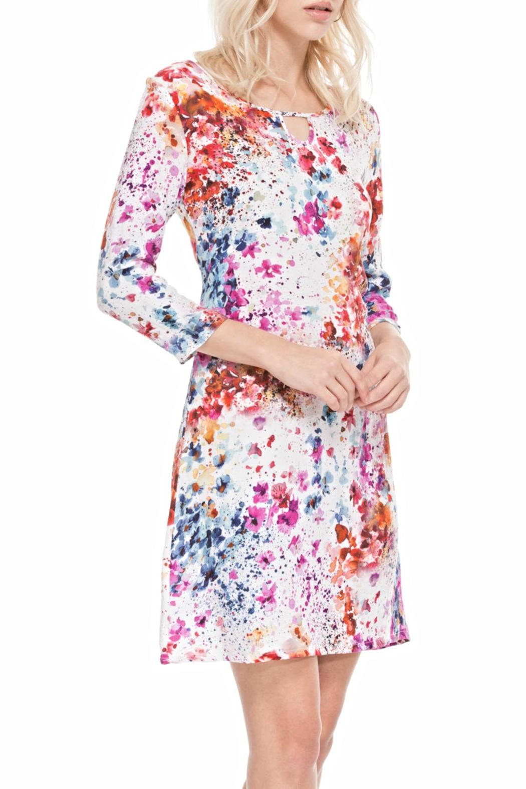 Adore Inkspot Flowery Dress - Front Cropped Image