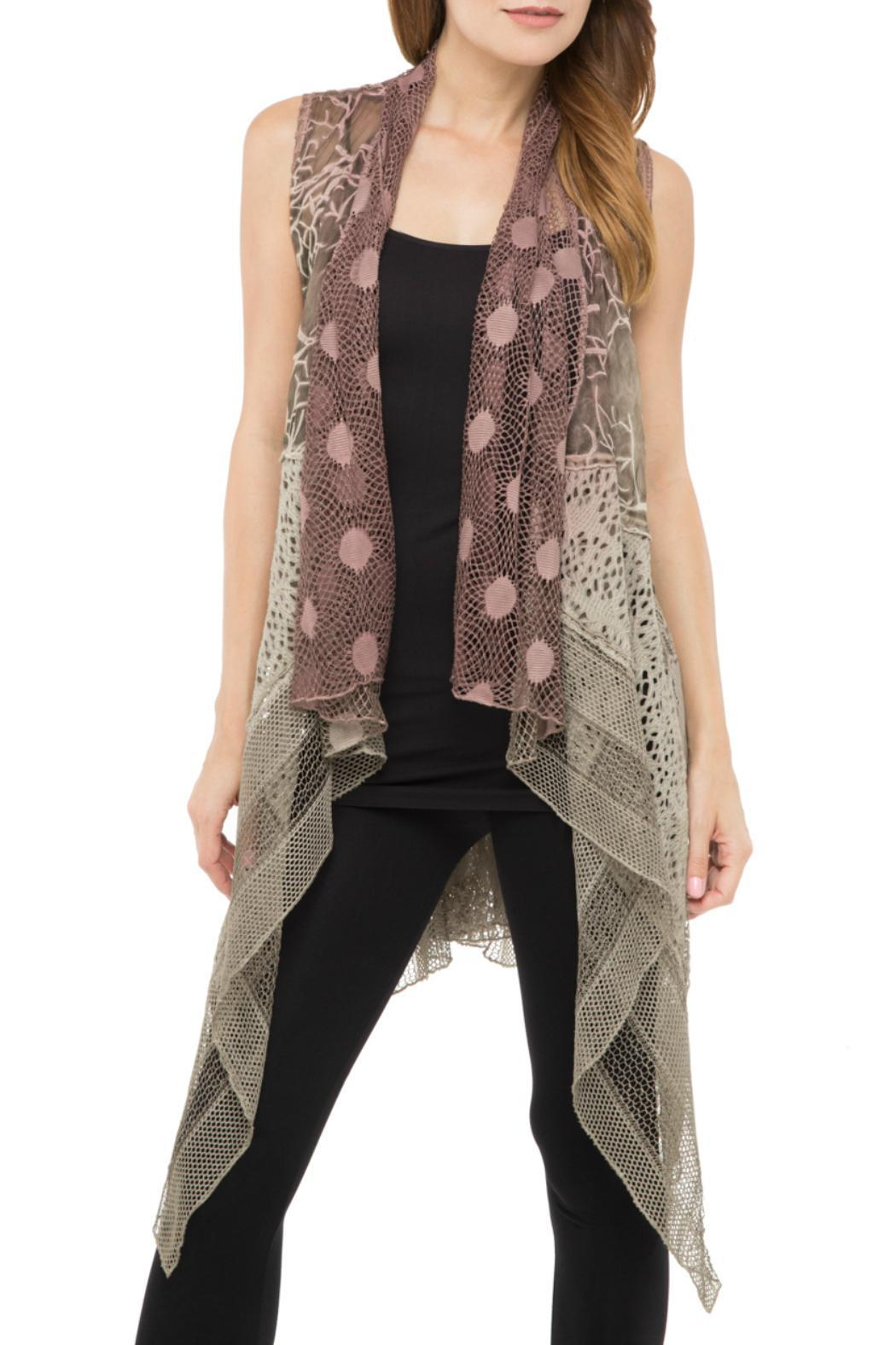 Adore Mauve Lace Vest from Cambria by New Moon — Shoptiques