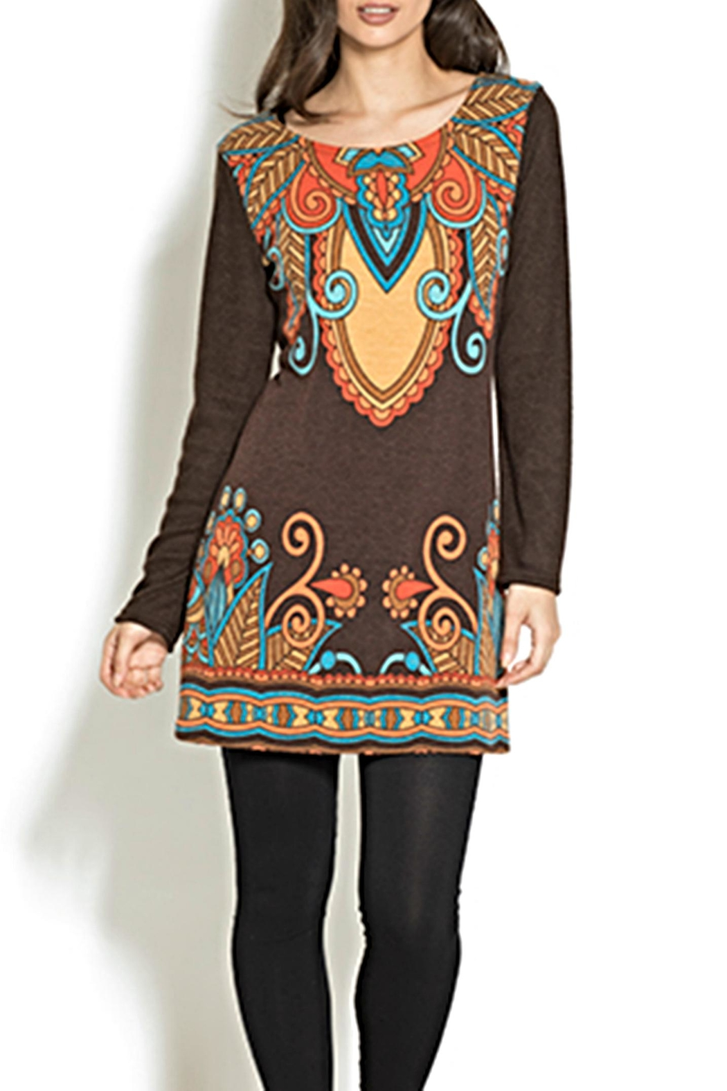 Adore Motif Tunic Sweater - Front Cropped Image