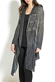 Adore Multifabric Assymetrical Cardigan - Product Mini Image