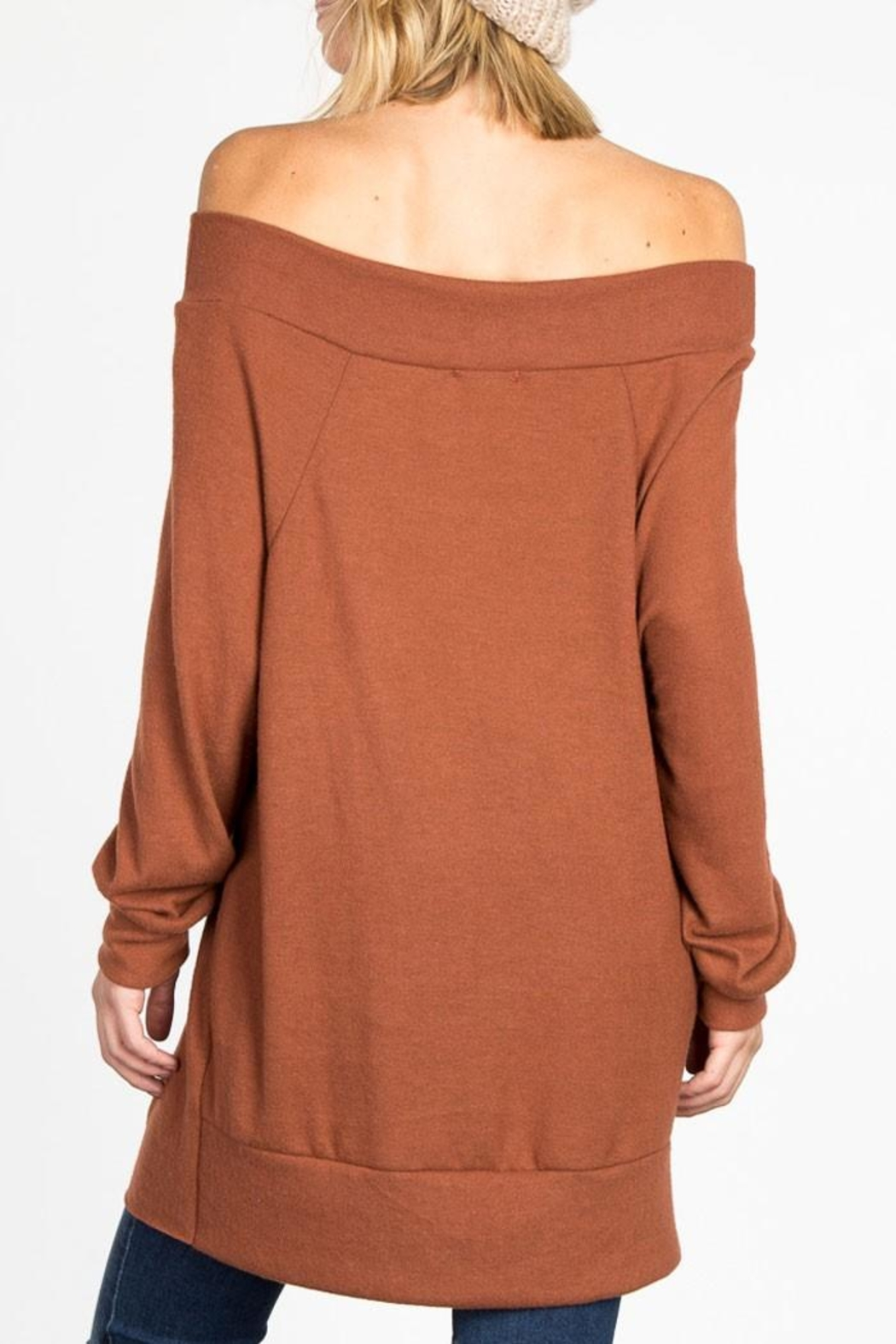 Adore Off Shoulder Tunic - Front Full Image