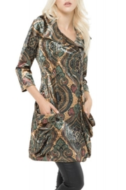 Adore Pattern Velvet Zip Tunic - Front cropped