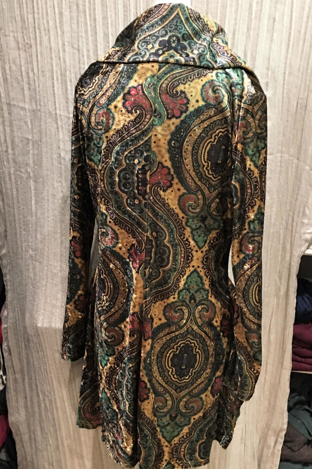 Adore Pattern Velvet Zip Tunic - Side Cropped Image