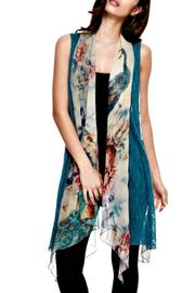 Adore Peacock Silky Vest - Product Mini Image