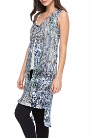 Adore Pleated Print Blouse - Front cropped