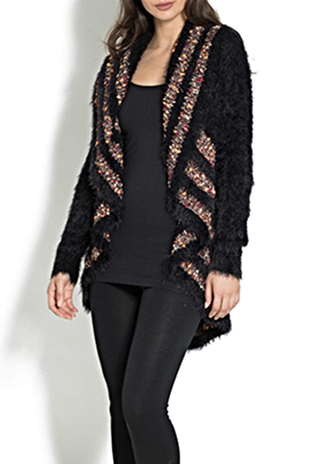 Adore Portrait Cardigan Sweater - Front Cropped Image