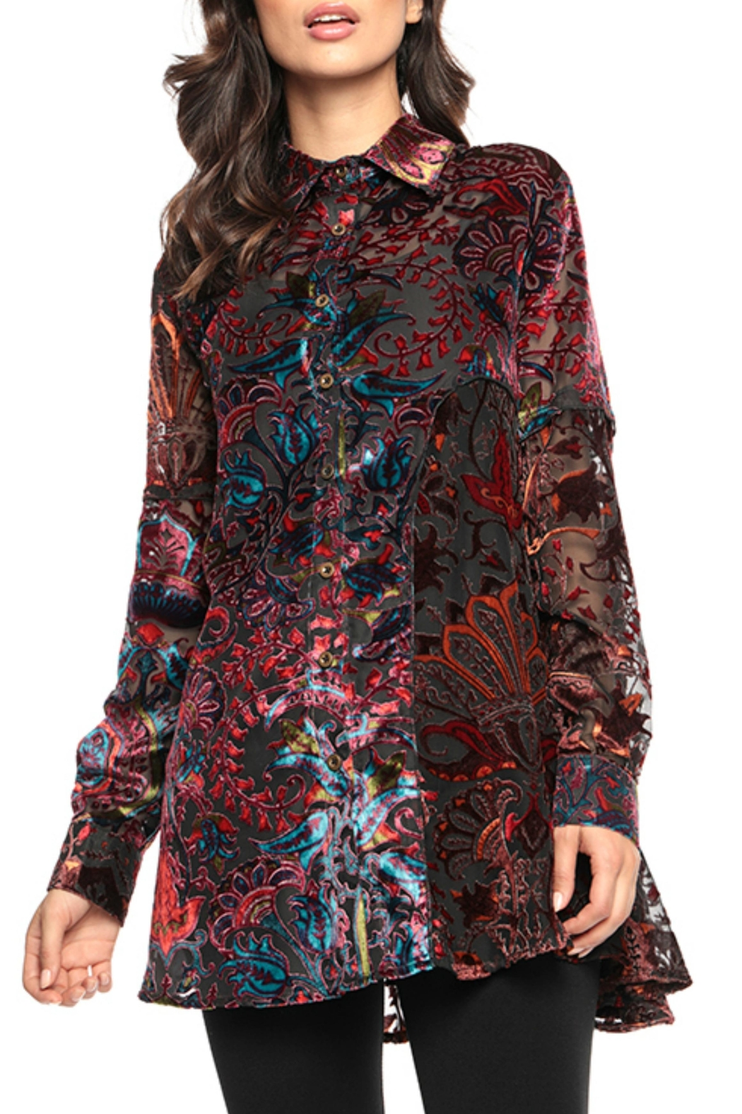 Adore Psychedelic Burnout Blouse - Main Image