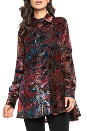 Adore Psychedelic Burnout Blouse - Front cropped