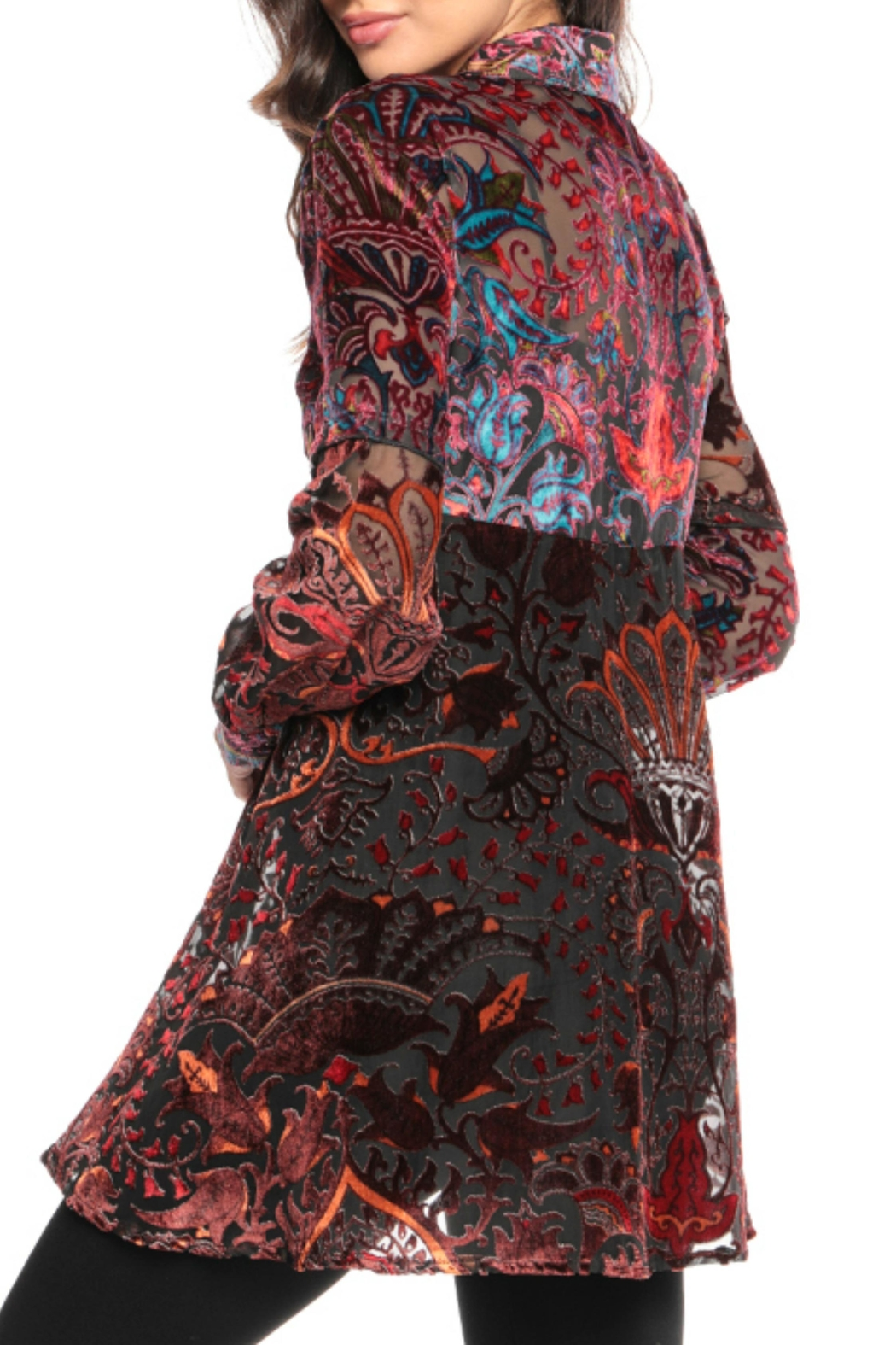 Adore Psychedelic Burnout Blouse - Front Full Image