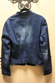 Adore Royal Button Denim Jacket - Front full body