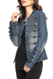 Adore Royal Button Denim Jacket - Front cropped