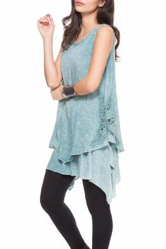 Shoptiques Product: Sleeveless Teal Top