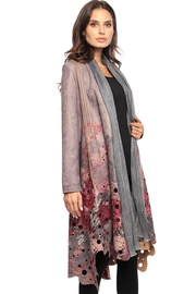 Adore Suede Cutout Motif Duster - Front cropped