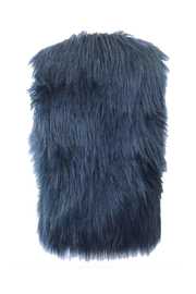 PinkOrchidFashion Adore Teal Faux Fur Vest - Front full body