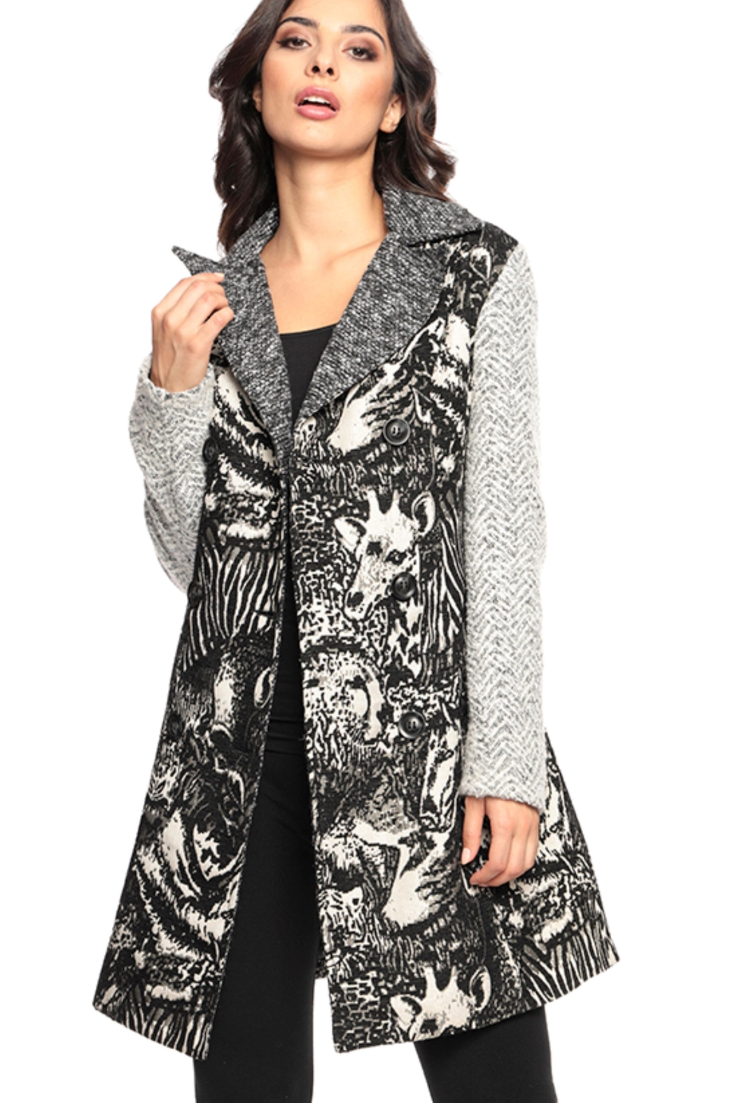 Adore Textures Tapestry Coat - Main Image
