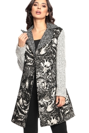 Adore Textures Tapestry Coat - Front cropped