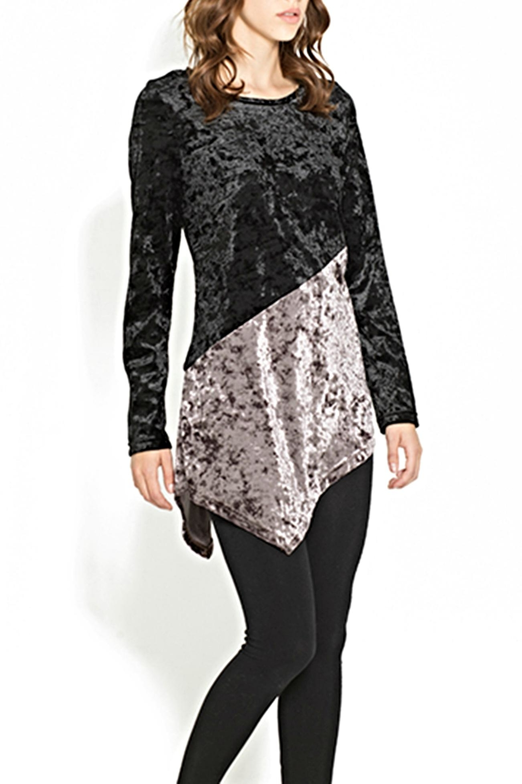 Adore Velvet Diagonal Top - Front Cropped Image