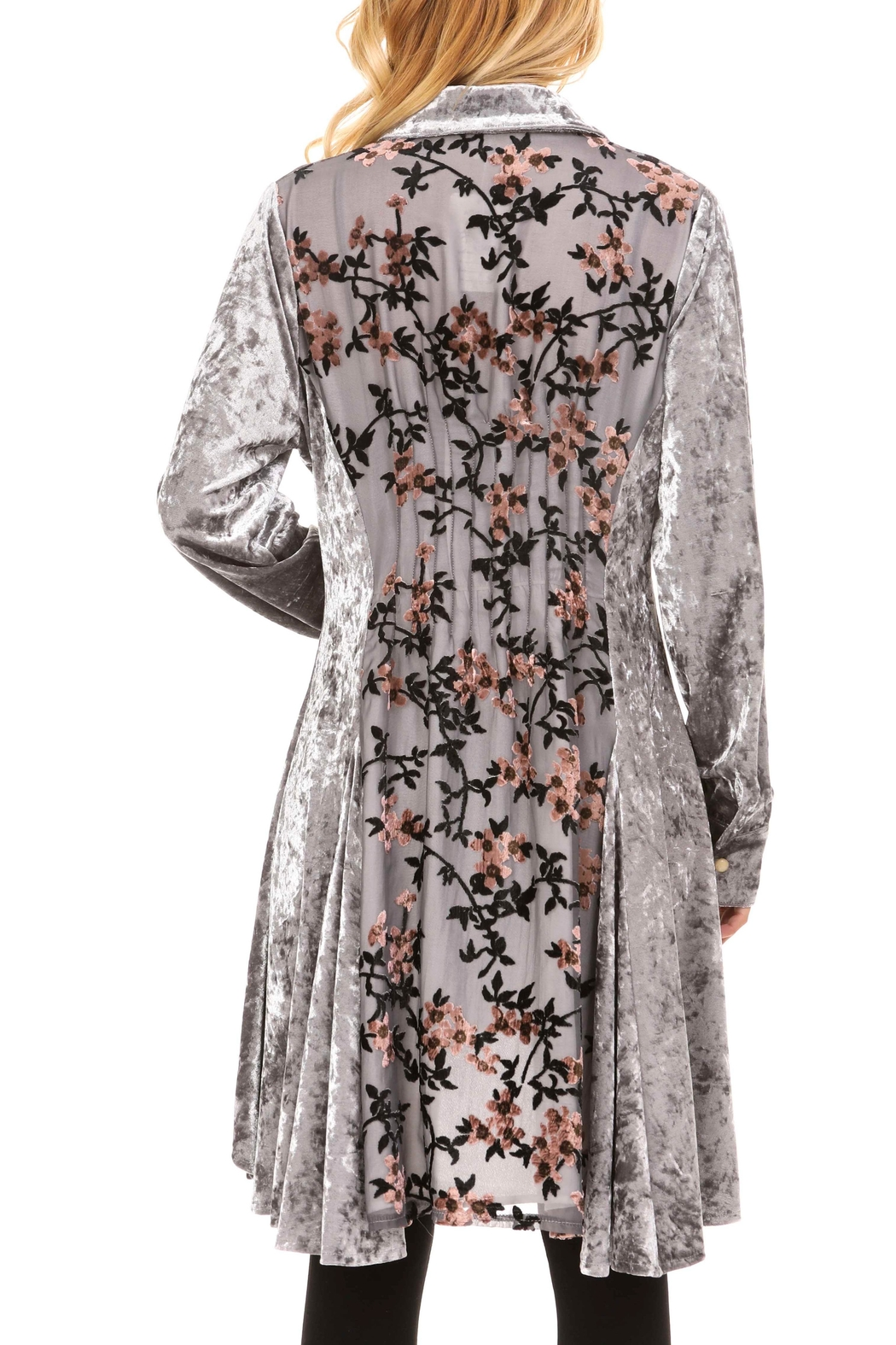 Adore Velvet Floral Inlay Tunic - Main Image