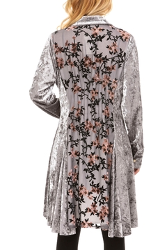 Adore Velvet Floral Inlay Tunic - Product List Image