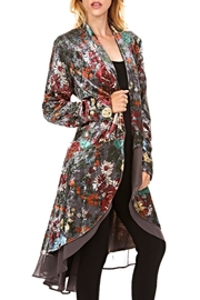 Adore Velvet Floral Jacket - Product Mini Image