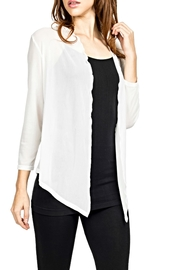 Adore White Sheer Cardigan - Product Mini Image