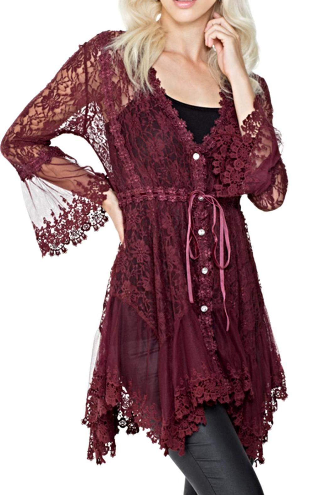 Adore Apparel Burgundy Lace Cardigan from Chicago by What She ...