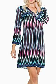 Adore Apparel Colorful Chevron Tunic - Front cropped