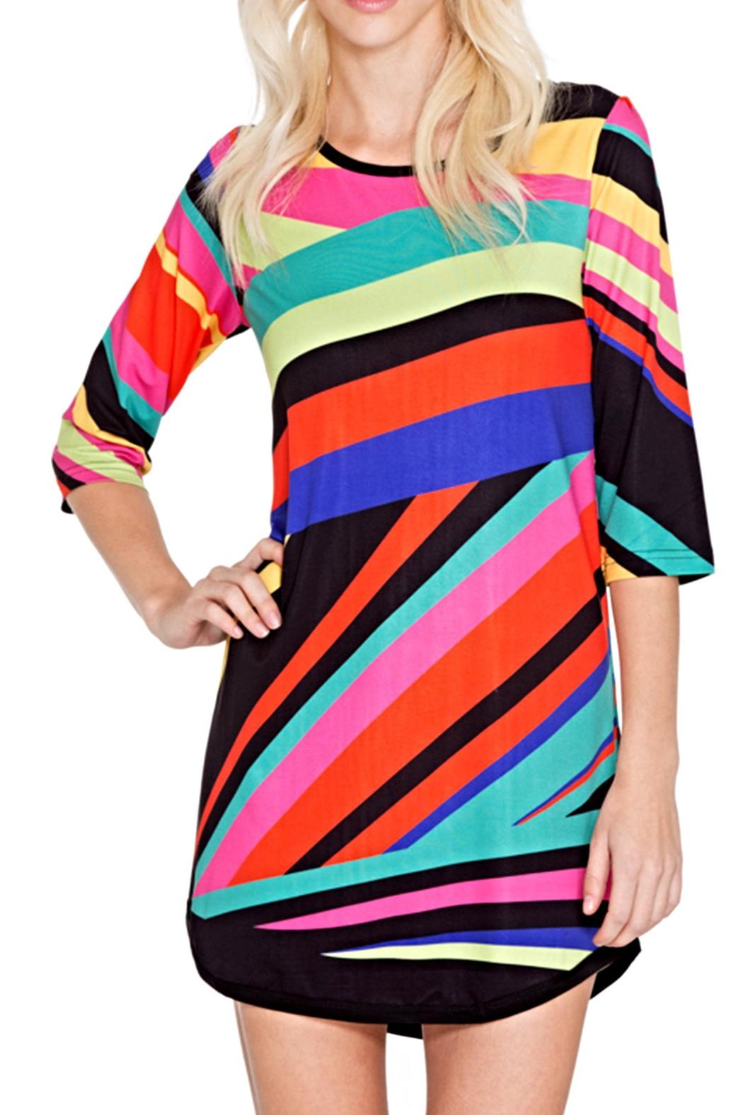 Adore Apparel Geometric Colors Tunic - Front Full Image