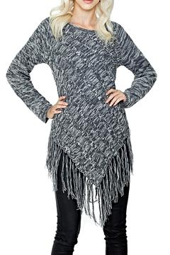 Shoptiques Product: Grey Fringe Sweater