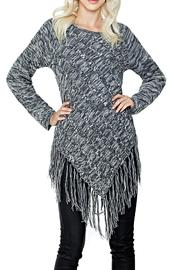 Adore Apparel Grey Fringe Sweater - Product Mini Image
